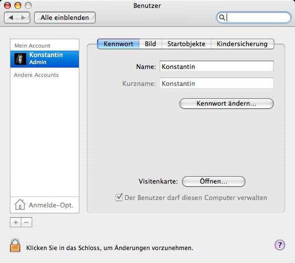 kein mac admin mehr